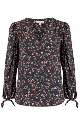 Rebecca Taylor Long Sleeve Lia Floral Top