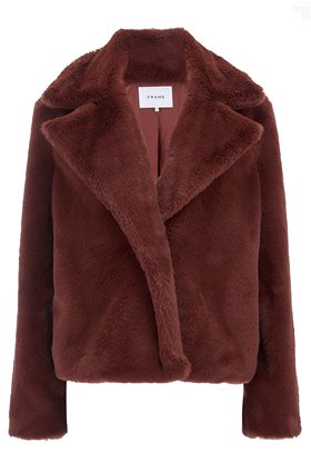 Frame Wide Collar Coat in Tawny