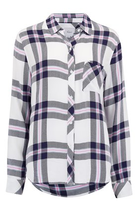 Rails HUNTER SHIRT IN WHITE, NAVY AND FUSCHIA