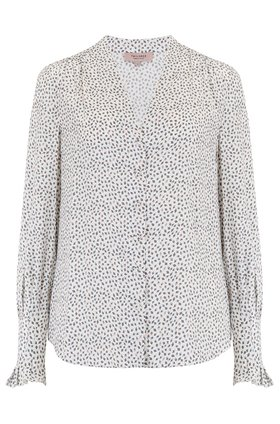 Tailored by Rebecca Taylor  Long Sleeve Pyramid Top in Snow Combo