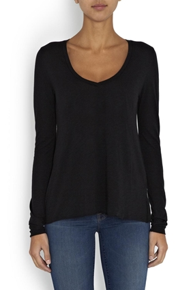 American Vintage JAC52 Long Sleeve in Noir