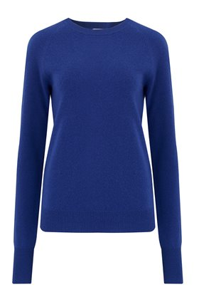 Madeleine Thompson Maddy Crew Exclusive Trilogy Plain Crew Jumper in Blue
