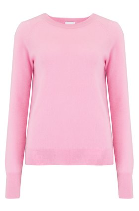 Madeleine Thompson Maddy Crew Exclusive Trilogy Plain Jumper in Pink Pantone