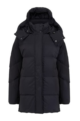aurora coat in black