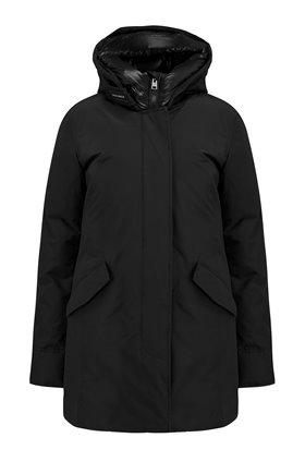 arctic parka no fur coat in black