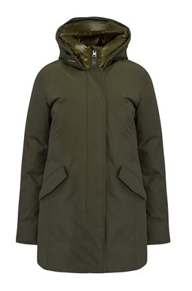 Woolrich ARCTIC Parka Fur-Free Coat in Dark Green