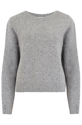 Vince DBL Seam Crew in Soft Grey