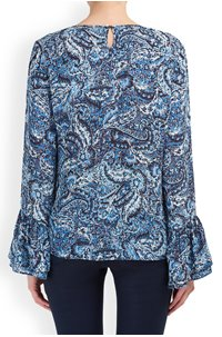 ella top in paisley blue