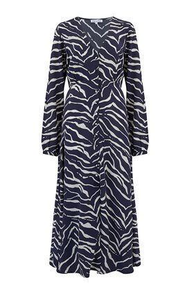 Lily & Lionel Blake Dress in Navy and Cream