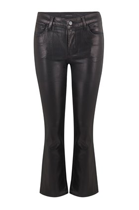 selena bootcut jean in galactic black coated