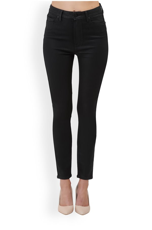 margot skinny jean in black coated