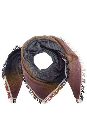 DOUCE GLOIRE HORIZON SCARF IN MIDNIGHT BROWN