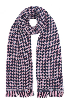 DOUCE GLOIRE NATTEY SCARF IN BLUE/NAVY/PINK