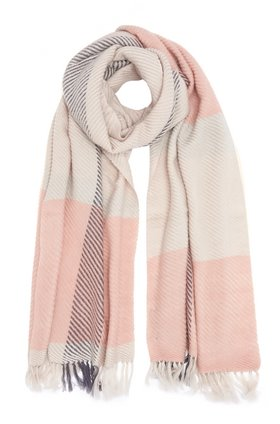 DOUCE GLOIRE MIKA SCARF IN PERLE/ROSE