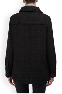 jelly knit jacket in black