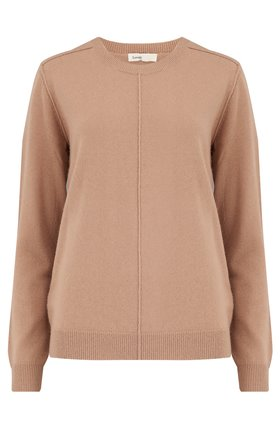 cashmere crew in camel