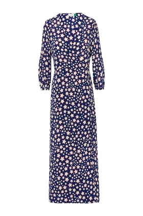 Rixo Phoebe Psychedelic Star Print Wrap Dress