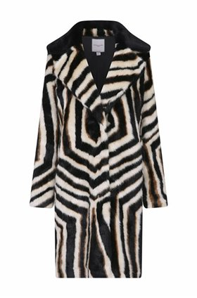 Urbancode Zinnia Coat in Zebra