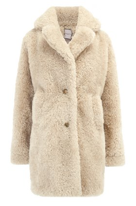 Urbancode EXCLUSIVE TEDDY COAT IN DRIFTWOOD
