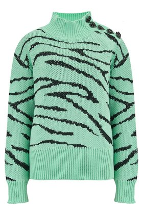 lyla jumper in mint zebra
