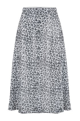 jeanie skirt in mono leopard