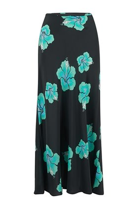 Rixo KELLY SKIRT IN ABSTRACT HAWAIIAN FLOWER