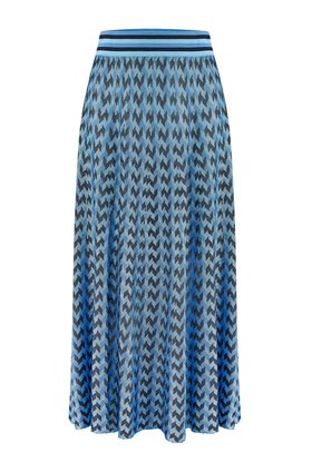 Rixo BRANDY SKIRT IN BLUE DOGTOOTH
