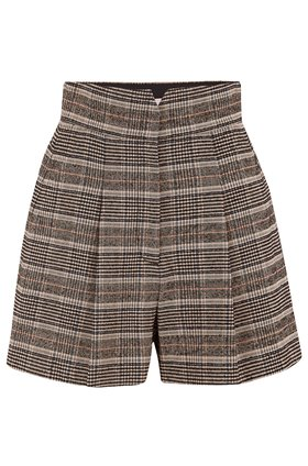 Rebecca Taylor BOUCLE PLAID SHORT IN SAND