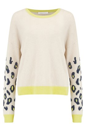 Duffy Animal Sleeve Jumper in Lemon Sour