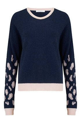 Duffy Animal Sleeve Jumper in Cosmos and Dawn