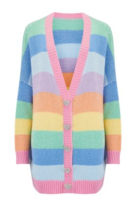 Olivia Rubin  Mika Cardigan in Rainbow Stripe