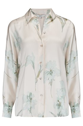 Iris Print Long Sleeve Blouse