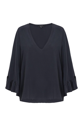 Toupy Clapton Blouse in Navy
