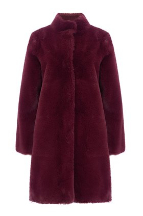 mina coat in burgundy