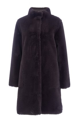 Velvet Mina Coat in Exhaust