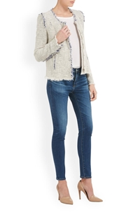agnette jacket in white and blue
