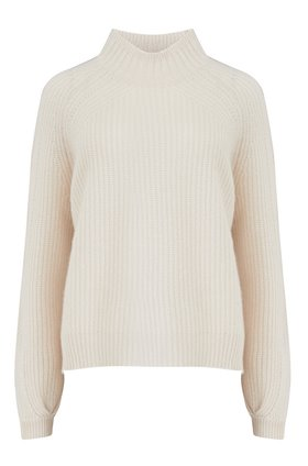 360 Sweater Sophia Rib Turtleneck Jumper in Chalk