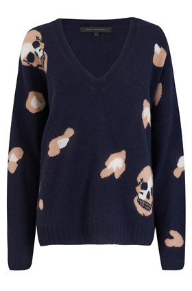 heidi all over skull jumper