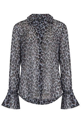 Paige ABRIANA SHIRT IN BLUE ICE LEOPARD