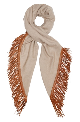 DOUCE GLOIRE Alma Fringe Scarf in Chatoush