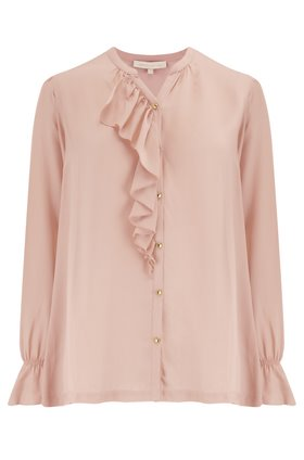 Vanessa Bruno  MADISON RUFFLE BLOUSE IN BLUSH