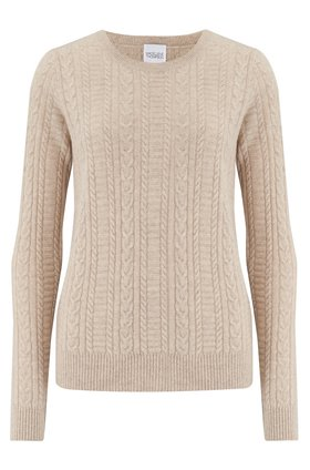 Madeleine Thompson STITCH JUMPER IN OATMEAL