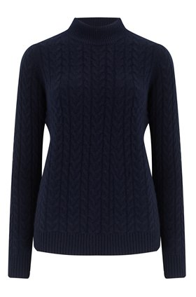 Madeleine Thompson MARY CABLE-KNIT JUMPER IN NAVY