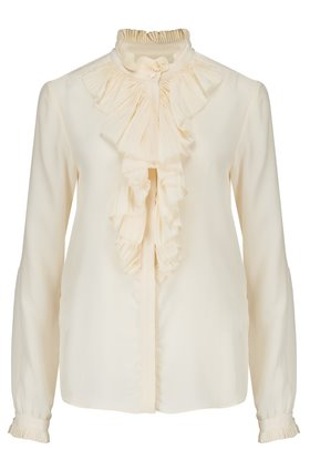 Levete Room  HERTA RUFFLE FRONT BLOUSE IN CREAM