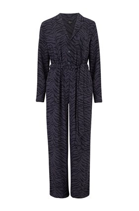 Rails CALLAN JUMPSUIT IN CHARCOAL TIGER STRIPE