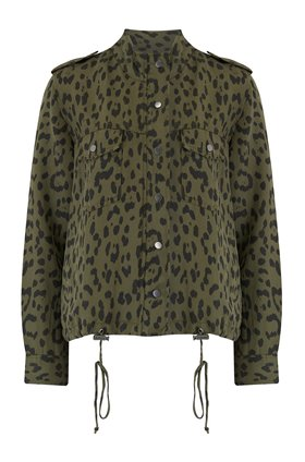 Rails COLLINS JACKET IN GREEN LEOPARD