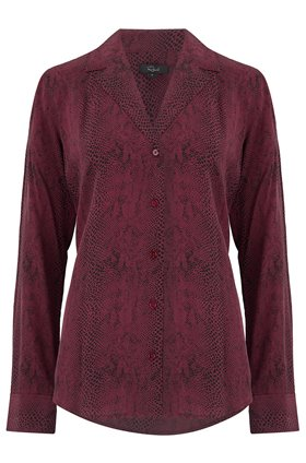 Rails REBEL SHIRT IN RED PYTHON