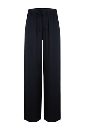 SATIN PJ PANT IN BLACK