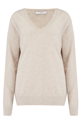 WEEKEND V-NECK JUMPER IN HEATHER DOVE