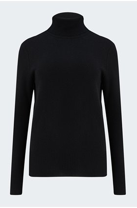 delafine turtleneck jumper in black
